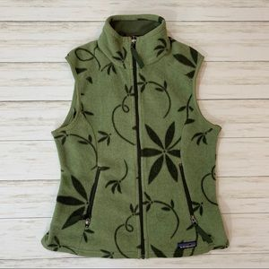 Patagonia Floral ZIp-Up Synchilla Vest Jacket